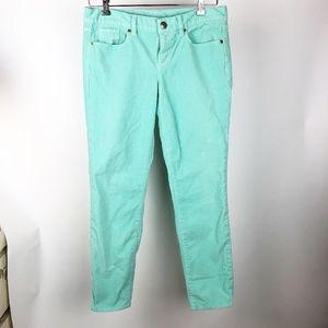 J Crew Women's Size 29 Corduroy Pants Mint Green
